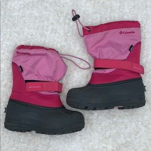 Columbia winter snow boots girl size 1
